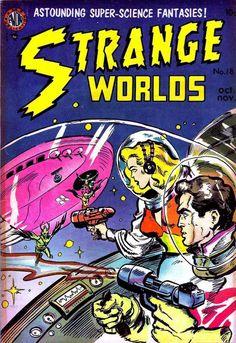 Comic Book Cover For Strange Worlds Issue #18 Avon Comics