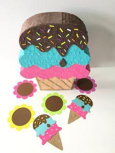Hielo crema Pinata Pinata Mini mesa del pastel helado