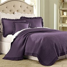 Brylanehome Florence Lace Quilt (Plum,Full/Queen) >>> Read more info by clicking the link on the image. #QuiltsSets
