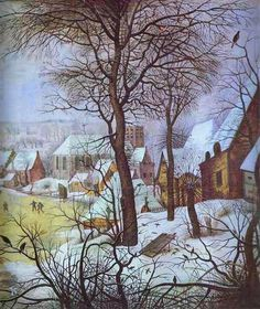 Brueghel the Younger, Pieter Winter Landscape 1621