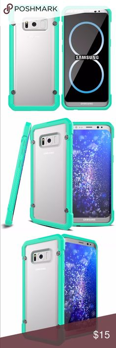 Samsung Galaxy S8 Hard Hybrid shockproof case Samsung Galaxy S8 Hard Hybrid Heavy Duty shockproof Rubber case.  More info in last photo.                                   💯% Brand New in package                                                 Color: Mint green Accessories Phone Cases