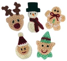 Christmas Appliques - $4.95 on Crochet spot store