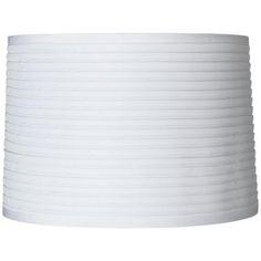 White Horizontal Pleat Lamp Shade 15x16x11 (Spider) - #20281 | LampsPlus.com
