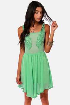 lace & green