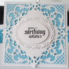 Kort og andet godt: Fødselsdagskort i hvidt og blåt
