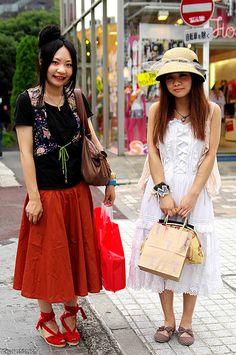 Two Girls in Harajuku, Tokyo, via Flickr.
