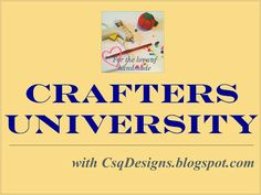 CsqDesigns: Crafters University: Opening an Etsy Shop #etsy #crafts #business