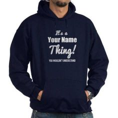 Cafepress Personalized Its A Thing Hoodie, Size: Small, Blue