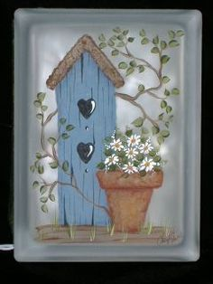 Designs Cheryl SKALSKI-Hand Painted Glass Blocks