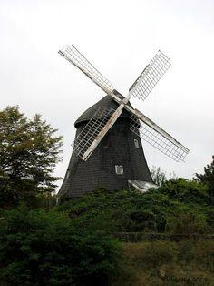 Buchholzer Windmühle vom Mittellandkanal aus aufgenommen