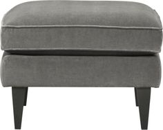Rochelle Ottoman Nickel  | Crate and Barrel