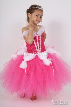 dedbd68c32 Robe de princesse Aurore, robe tutu avec bustier extensible. Cadeau de  Noël, cadeau d'anniversaire, déguisement, costume enfant de carnaval
