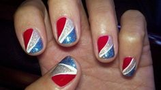 Check out theser great patriotic nail design ideas for Memorial Day! For the latest and trendiest nail art, fashion and hair, explore DesignPress now! Striped Nails, Blue Nails, Funky Nails, Nail Designs Pictures, Nail Art Designs, Nails Design, Memorial Day, Painted Toe Nails, Patriotic Nails