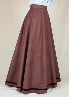 Edwardian skirt (fan skirt) around 1890 Sewing pattern # 0414 size EU PD … - Modern Edwardian Dress, Edwardian Fashion, Vintage Fashion, Vintage Beauty, 1890s Fashion, Fashion Goth, Edwardian Clothing, Fashion Women, Day Dresses