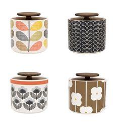 Orla Kiely Kitchenware, their stuff is fabulous, also do mugs