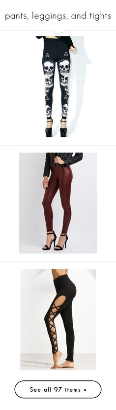 """""""pants, leggings, and tights"""" by katie-no ❤ liked on Polyvore featuring pants, leggings, bottoms, white leggings, white legging pants, legging pants, form fitting leggings, form fitting pants, burgundy and high waisted leather pants"""