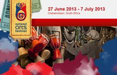 Every year hundreds of thousands of people unite on the small university city of Grahamstown for the country's biggest annual celebration of the arts. This year the Grahamstown National Arts Festival runs from the the 27th of June till the 7th of July and is the most important event on the South African cultural calendar.    Programs can obtained from the official Arts Festival Website and tickets for many of the shows can be booked from Computicket. National Art, Art Festival, Celebration, Calendar, June, University, African, Events, Culture