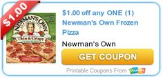Tri Cities On A Dime: $1.00 COUPON ON ANY NEWMEN'S OWN FROZEN PIZZA