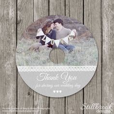Wedding CD/DVD Label Template  Photography by StillbrookDesigns
