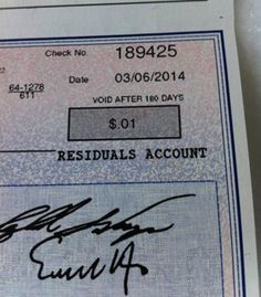This Royalty Check Look Familiar?