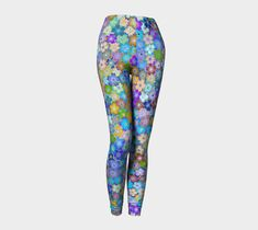 Go from yoga to dinner in our body hugging printed leggings! Compression fit performance fabric milled in Montreal. Made to last, this fabric won't lose shape and the vibrant print will never fade. Printed Leggings, Spring Flowers, Knitted Fabric, Stretch Fabric, Hand Sewing, Active Wear, Knitting, How To Wear, Clothes