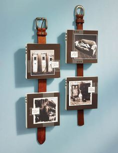 Very masculine way to hang a picture