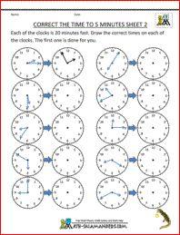 Time Worksheets & Free Printables | Education.com