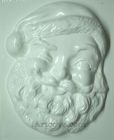 Santa Head Plaster  Mold 10-1/4 x 12-3/4 Inch. Mix plaster of paris with water and pour into mold. Let the plaster harden. Now paint your finished mold with acrylic paints.
