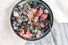 Frozen Berries with Coconut and Lime Recipe
