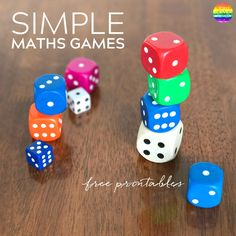 Simple Maths Games To Play Together - grab these FREE printable games to play at school or at home to improve young children& maths skills Math For Kids, Fun Math, Math Games, Math Activities, Games To Play, Maths, Cognitive Activities, Math Resources, Family Activities