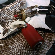 custom tattoo machine NoE , snakeskin , classic rotary tattoo machine