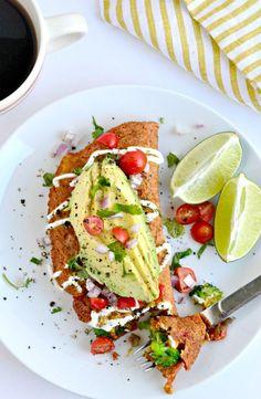 #Vegan Chickpea Omelet   Fork & Beans // I love eggs, but this still looks delectable.