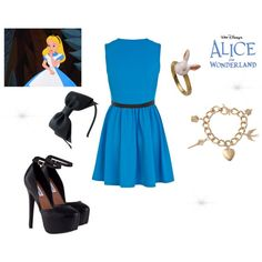 """Alice in Wonderland Outfit"" by constancesimmo on Polyvore"