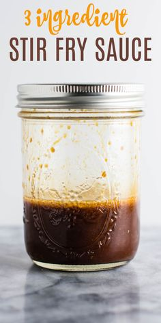 The only stir fry sauce recipe you'll ever need! only 3 ingredients and so versatile. Perfect for making stir fry vegetables, broccoli with garlic sauce, ramen noodle stir fry, or any of your favorite stir fries! recipes for two recipes fry recipes Tofu Stir Fry, Vegetable Stir Fry Sauce, Healthy Stir Fry Sauce, Chicken Stir Fry Sauce, Homemade Stir Fry Sauce, Steak Stir Fry, Vegan Stir Fry, Simple Stir Fry Sauce, Shrimp Stir Fry