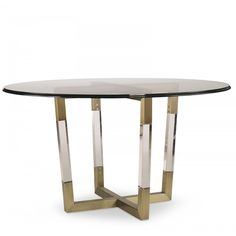 Century METAL/ACRYLIC DINING TABLE BASE FOR GLASS TOPS