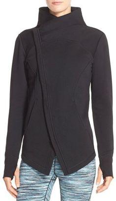 Zella 'Snowdrift' Asymmetrical Zip Sweatshirt