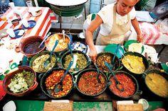 a market in Villa de Zaachila, Oaxaca