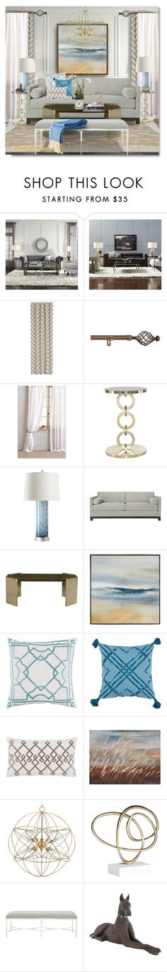 """..Monday's Motivation "" by addicted2design ❤ liked on Polyvore featuring interior, interiors, interior design, home, home decor, interior decorating, Mitchell Gold + Bob Williams, Crate and Barrel, Achim and Everest"