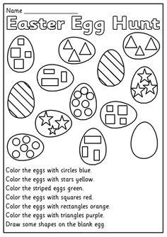 Easter Worksheets for Kids. 20 Easter Worksheets for Kids. Happy Easter Worksheet for Kids Preschool and Kindergarten Easter Worksheets, Kindergarten Addition Worksheets, Preschool Worksheets, In Kindergarten, Printable Worksheets, Subtraction Kindergarten, Coloring Worksheets, Shapes Worksheets, 3 Year Old Worksheets