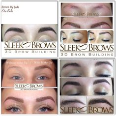 Sleek 3D Brow Building, perfectly arched, highly defined, non-invasive, brow envy