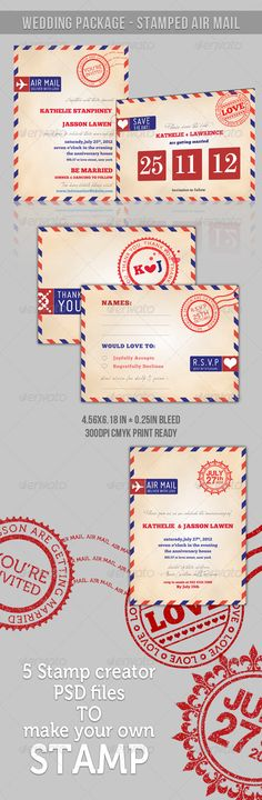 [ Wedding Package ] - Stamp Air Mail - GraphicRiver Item for Sale