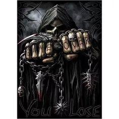 Pyramid America Spiral Assassin Grim Reaper with Guns Revolvers Skeleton Death Fantasy Horror Biker Cool Wall Decor Art Print Poster Dark Artwork, Skull Artwork, Dark Art Drawings, Skull Wallpaper, Dark Wallpaper, Skull Pictures, Art Pictures, Art Pics, Dark Fantasy Art