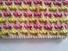 Woven Ribbons Stitch, check the step by step free pattern at www. Woven Ribbons Stitch, check the step by step free pattern at www. Slip Stitch Knitting, Knitting Stiches, Bobble Stitch, Knitting Charts, Baby Knitting Patterns, Knitting Designs, Knitting Projects, Crochet Stitches, Stitch Patterns