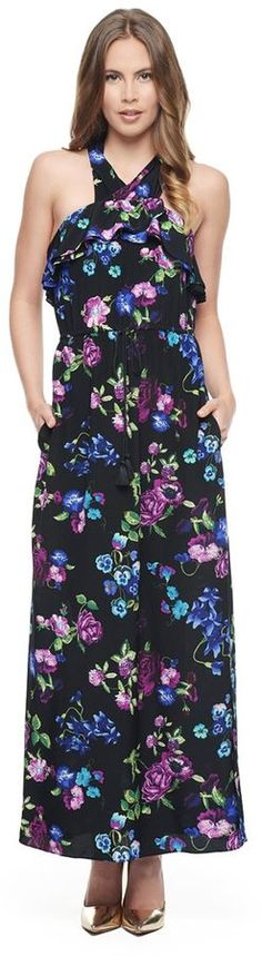 Sketched Floral Silk Maxi Dress  $328 $99.99