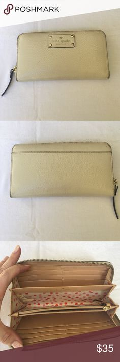 🆕Kate Spade Cream Wallet Kate Spade Cream Wallet- GUC- see pix for wear. Zipper completely functional- Price is reflective of condition.          ✅I ship same or next day ✅Bundle for discount kate spade Bags Wallets
