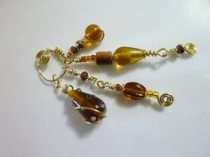 Amber Waves of Grain Dangle Keychain  Gold Key by kellyscraftitems, $6.00
