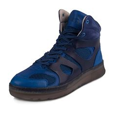 6a5246be35f50d Puma Mens McQ Move Mid Alexander McQueen Blue Leather Size 12 Athletic  Sneakers  outfitswipe