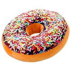 JDEAL Round Doughnut Donut Seat Back Stuffed Cushion Insert Filler Filling Throw Pillow Plush Play Toy Doll For Sleeping Office Afternoon Nap Doze Fruit Cake 16 X 16 Rainbow Icing Sugar ** Details can be found by clicking on the image.-It is an affiliate link to Amazon. #Sofa