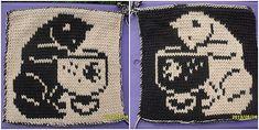 Ravelry: DF-Topflappen Katze mit Glas pattern by maku flo Knitting Charts, Knitting Stitches, Knitting Patterns Free, Knitting Yarn, Free Knitting, Baby Knitting, Stitch Patterns, Crochet Patterns, Knit Dishcloth