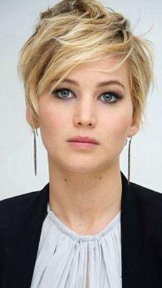 Jennifer Lawrence's new short do. Love it!